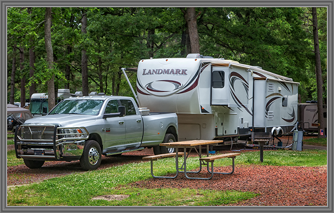Campsite on Myrtle Beach KOA