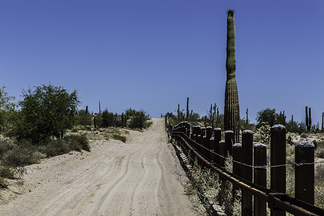 Grenze zu Mexiko im Organ Pipe Cactus National Monument Foto: Christine Lisse