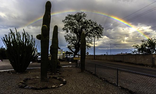 Regenbogen am Tra-Tel RV Park Foto: Christine Lisse