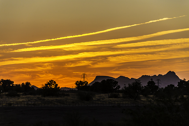 Sonnenuntergang in Tucson, Arizona Foto: Christine Lisse