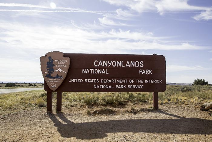 Eingang Canyonlands National Park Utah USA