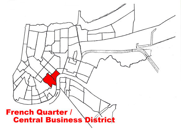 """French quarter-cbd"". Licensed under Public Domain via Wikipedia."