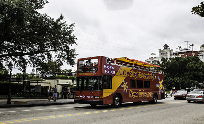 Hop-on Hop-off Bus in  New Orleans, Louisiana Foto: Christine Lisse
