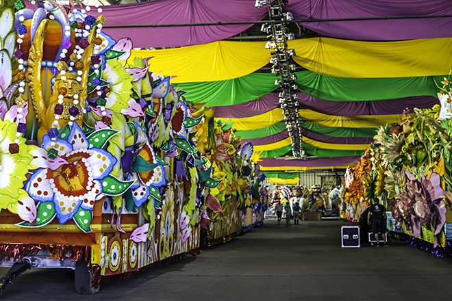 Remise  der Mardi Gras World in New Orleans, Lousiana Foto: Christine Lisse