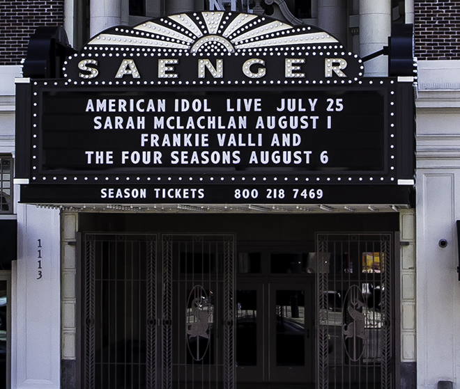 Saenger Theater in der 1111 Canal Street, New Orleans, Lousiana  Foto: Christine Lisse