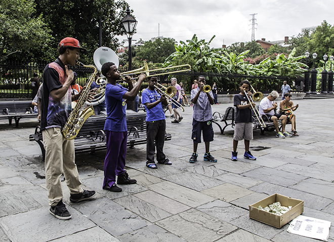 Jugendband im French Quarter in New Orleans, Louisiana Foto: Christine Lisse