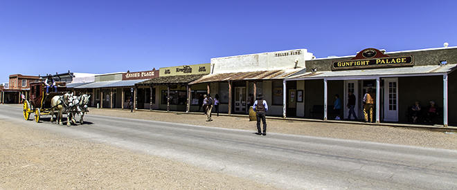 Doc Holidays Gunfight Palace in Tombstone, Arizona Foto: Christine Lisse