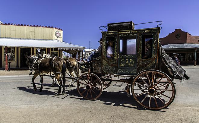 Postkutsche in Tombstone, AZ Foto: Christine Lisse
