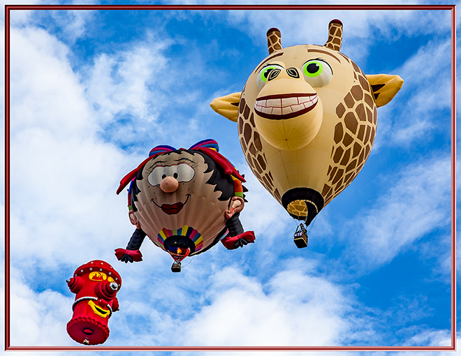 Squirt & Oons Wiefke & Little Giraffe | Albuquerque International Balloon Fiesta | New Mexico Foto: Christine Lisse