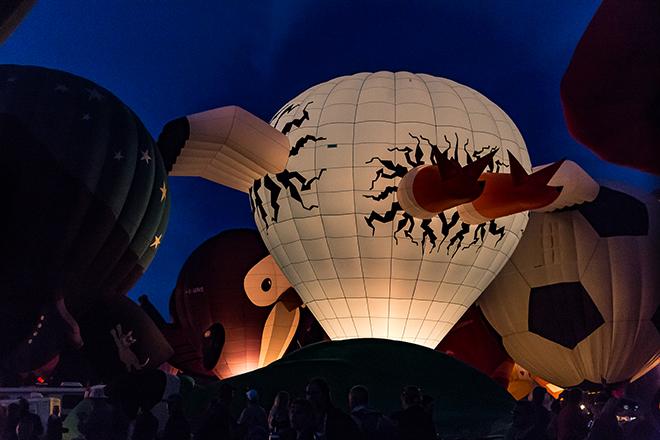 The Stork von hinten | Albuquerque International Balloon Fiesta | New Mexico Foto: Christine Lisse