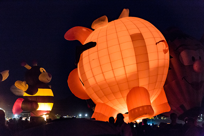 Pigasus & Lilly Little Bee | Albuquerque International Balloon Fiesta | New Mexico Foto: Christine Lisse