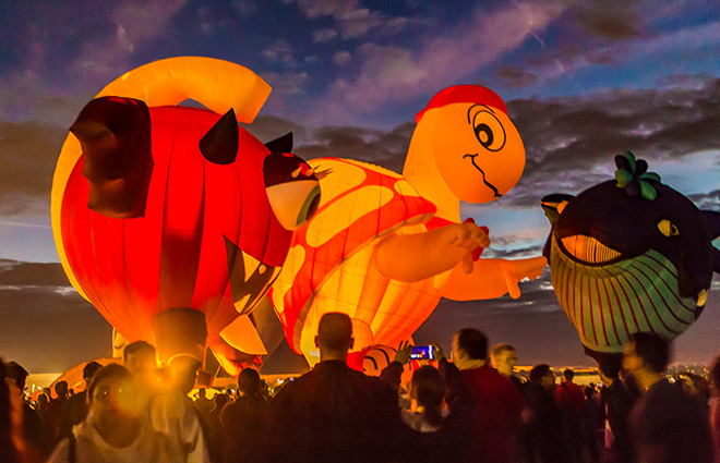 Cyclope | Mister Bup | Blue Whale | Albuquerque International Balloon Fiesta | New Mexico Foto: Christine Lisse