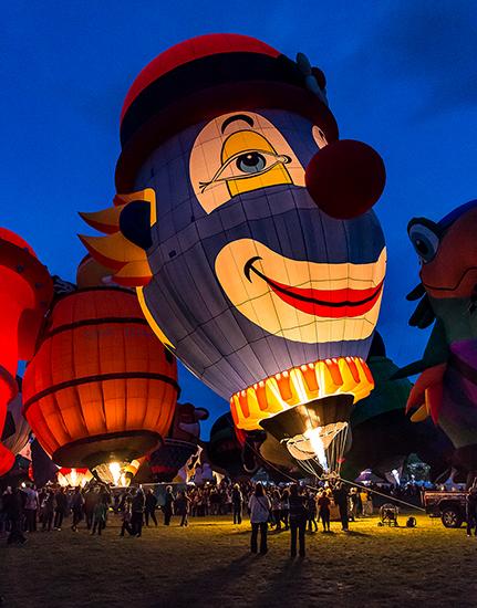 Clown | Albuquerque International Balloon Fiesta | New Mexico Foto: Christine Lisse