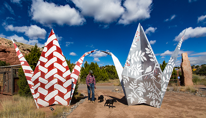 Origami Garden  National Scenic Byway NM 14 Foto: Christine Lisse