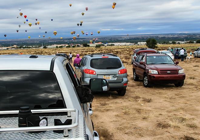 Debby am Albuquerque International Balloon Fiesta   New Mexico Foto: Christine Lisse