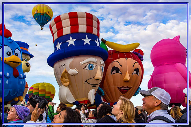 Uncle Sam & Chick-I-Boom | Albuquerque International Balloon Fiesta | New Mexico Foto: Christine Lisse