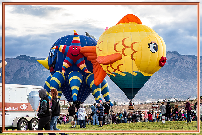 Sushi & Sea Fantasy | Albuquerque International Balloon Fiesta | New Mexico Foto: Christine Lisse