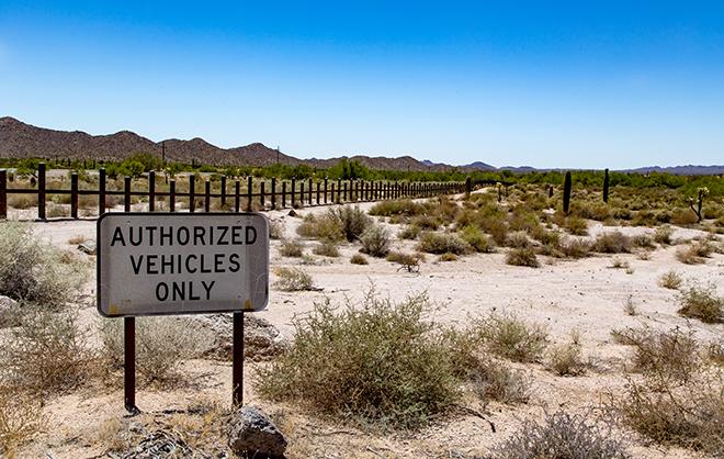 Grenze zu Mexiko | Organ Pipe Cactus National Monument | Arizona Foto: Christine Lisse