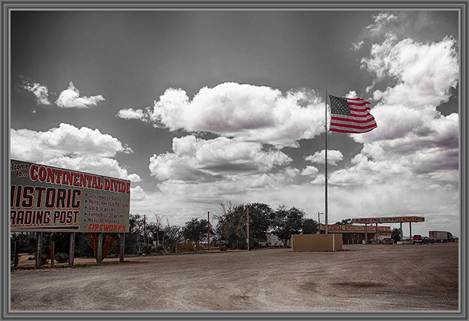 trostlose Raststätte in New Mexiko