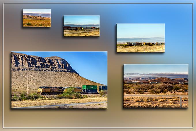 Collage mit 5 Zugbildern