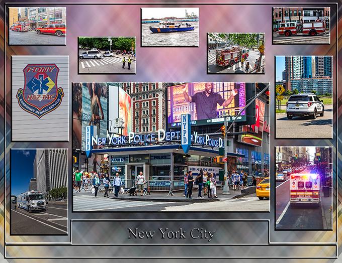 New York Collage   Polizei und Feuerwehr