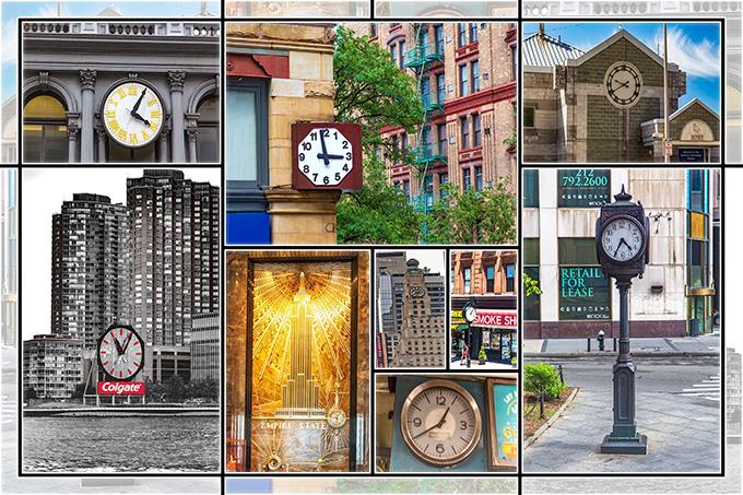 New York Collage   Uhren