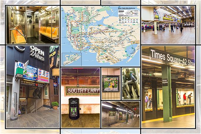 New York Collage   Subway