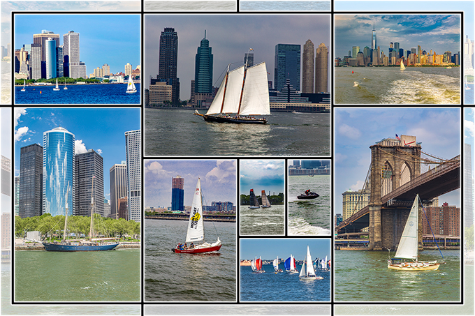 New York City   weiße Segel