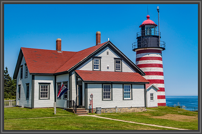 West Quoddy Head Light in Maine