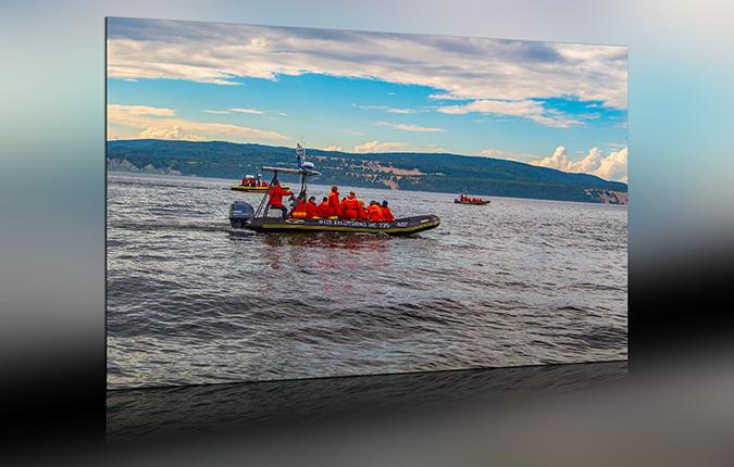 Walbeobachtungsboote Tadoussac Kanada