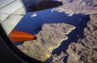 Flug über Hoover Dam Las Vegas Nevada USA