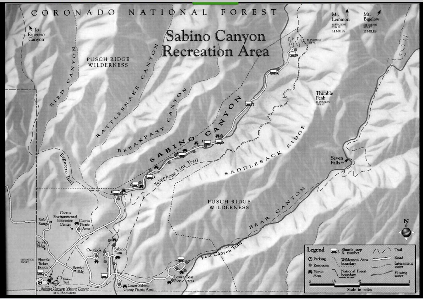 Tucson Arizona Karte.Karte Seven Falls Trail Tucson Arizona Debby Faya In