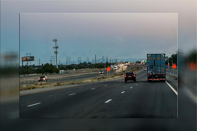 Autobahn I-10 bei Tucson | Arizona