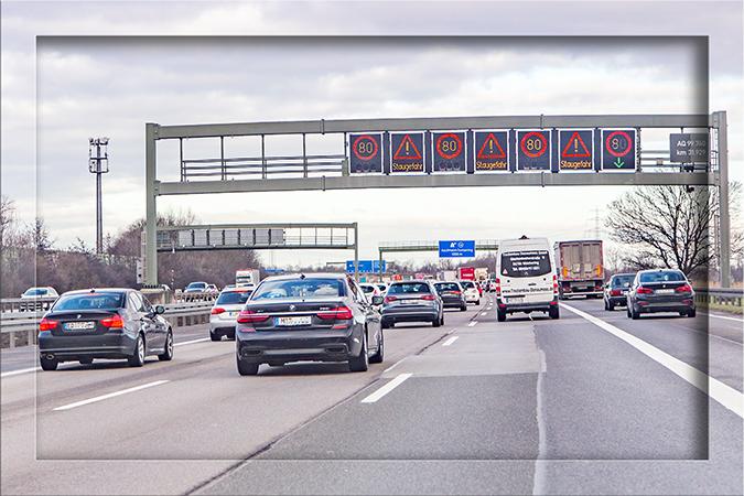 Bundesautobahn A9 Deutschland bei München