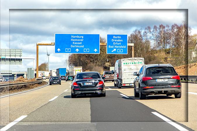 Bundesautobahn A7 Deutschland bei Kassel